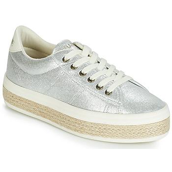 Cipők Női Rövid szárú edzőcipők No Name MALIBU Ezüst