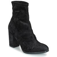 Cipők Női Bokacsizmák Caprice  Fekete / Bársony