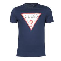 Ruhák Férfi Rövid ujjú pólók Guess ORIGINAL Tengerész