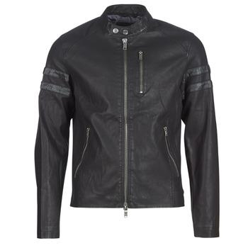 Ruhák Férfi Bőrkabátok / műbőr kabátok Guess COOL BIKER Fekete