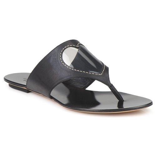 Cipők Női Lábujjközös papucsok Moschino Cheap & CHIC CALOTROPIS Fekete