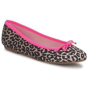 Cipők Női Balerina cipők / babák Cara NEONLEOPARD Leopárd