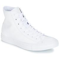 Shoes Magas szárú edzőcipők Converse ALL STAR MONOCHROME CUIR HI Fehér