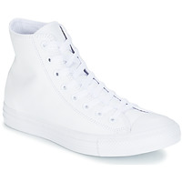Cipők Magas szárú edzőcipők Converse ALL STAR MONOCHROME CUIR HI Fehér