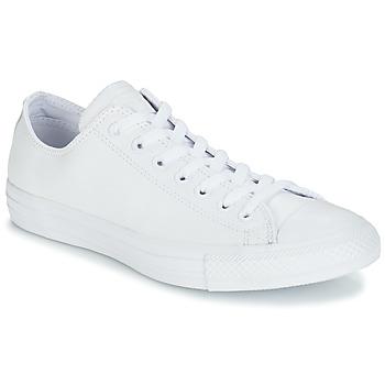 Cipők Rövid szárú edzőcipők Converse ALL STAR MONOCHROME CUIR OX Fehér