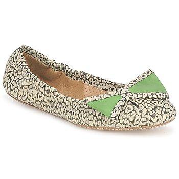 Cipők Női Balerina cipők / babák Maloles BLANCHE Fekete  / Fehér / Zöld