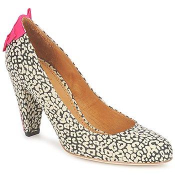 Cipők Női Félcipők Maloles CHRISTIA Fekete  / Fehér / Rózsaszín