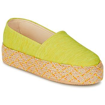 Cipők Női Gyékény talpú cipők Betty London TROOPIKA Citromsárga