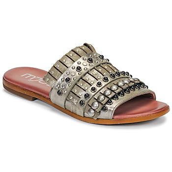 Cipők Női Papucsok Mjus CHAT MULE Keki / Fémes