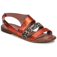 Cipők Női Szandálok / Saruk Mjus CHAT BUCKLE Piros / Leopárd