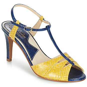 Cipők Női Szandálok / Saruk Ippon Vintage DROP BACK Tengerész / Citromsárga