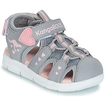 Cipők Lány Szandálok / Saruk Kangaroos K-MINI Szürke / Rózsaszín