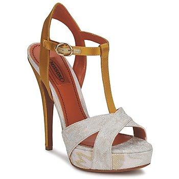 Cipők Női Szandálok / Saruk Missoni TM30 Arany / Ezüst
