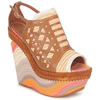 Cipők Női Szandálok / Saruk Missoni TM22 Barna / Narancssárga