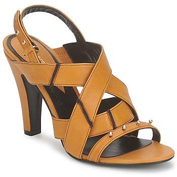 Cipők Női Szandálok / Saruk Karine Arabian DOLORES Sáfrány-fekete