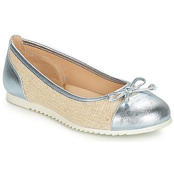 Cipők Lány Balerina cipők  André RIVAGE Kék / Bézs