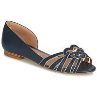 Cipők Női Balerina cipők / babák André CHRISTIE Tengerész