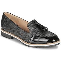 Cipők Női Mokkaszínek André EMOTION Ezüst / Fekete