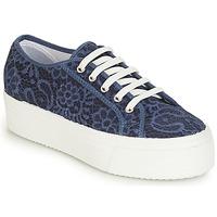 Cipők Női Rövid szárú edzőcipők André SODA Kék