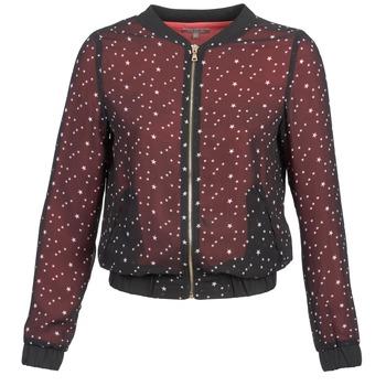 Ruhák Női Kabátok / Blézerek Moony Mood CAT Fekete  / Piros