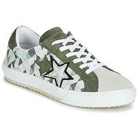 Cipők Női Rövid szárú edzőcipők Mustang 2874302-277 Keki / Fehér
