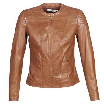 Ruhák Női Bőrkabátok / műbőr kabátok Naf Naf CLIM Konyak
