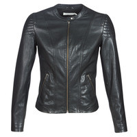 Ruhák Női Bőrkabátok / műbőr kabátok Naf Naf CLIM Fekete