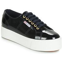 Cipők Női Rövid szárú edzőcipők Superga 2790 LEAPATENT Tengerész