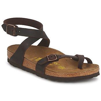 Cipők Női Szandálok / Saruk Birkenstock YARA PREMIUM Barna