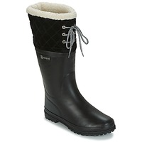 Cipők Női Gumicsizmák Aigle POLKA GIBOULEE Fekete