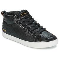 Cipők Női Magas szárú edzőcipők Feiyue DELTA MID DRAGON Fekete
