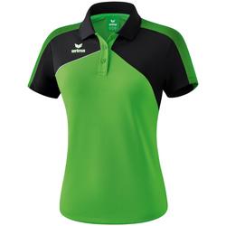 Ruhák Női Rövid ujjú galléros pólók Erima Polo femme  Premium One 2.0 vert/noir/blanc