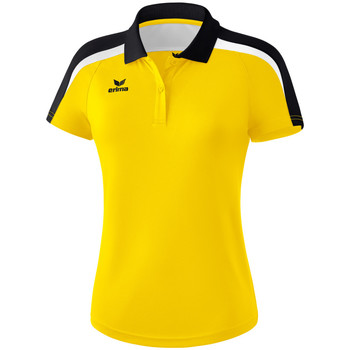 Ruhák Női Rövid ujjú galléros pólók Erima Polo femme  Liga 2.0 jaune/noir/blanc