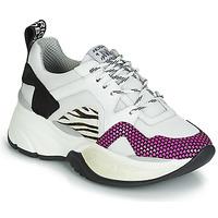 Cipők Női Rövid szárú edzőcipők Meline ARGAGALI Fehér / Fekete