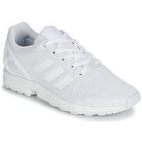 Cipők Gyerek Rövid szárú edzőcipők adidas Originals ZX FLUX J Fehér