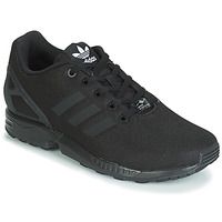 Cipők Fiú Rövid szárú edzőcipők adidas Originals ZX FLUX J Fekete