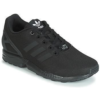 Cipők Gyerek Rövid szárú edzőcipők adidas Originals ZX FLUX J Fekete