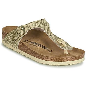Cipők Női Lábujjközös papucsok Birkenstock GIZEH Arany