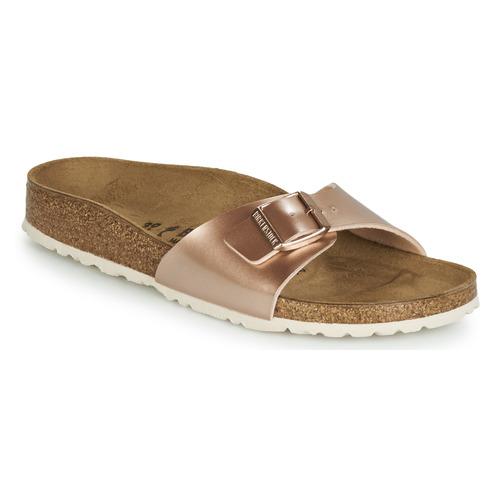 Cipők Női Papucsok Birkenstock MADRID Rózsaszín / Arany