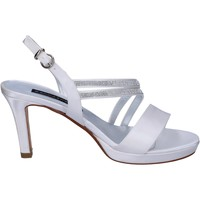 Cipők Női Szandálok / Saruk Bacta De Toi sandali bianco raso strass BT845 Bianco