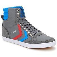 Shoes Magas szárú edzőcipők Hummel TEN STAR HIGH CANVAS Szürke / Kék / Piros