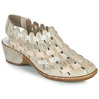 Cipők Női Szandálok / Saruk Rieker ROBERTO Ezüst