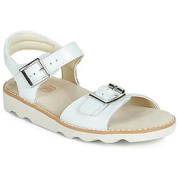 Cipők Lány Szandálok / Saruk Clarks Crown Bloom K Fehér