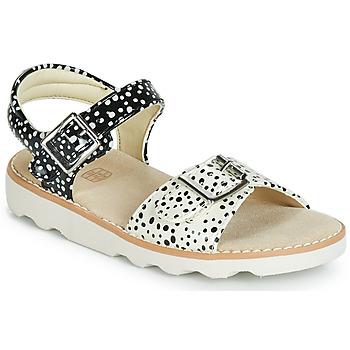 Cipők Lány Szandálok / Saruk Clarks Crown Bloom T Fekete