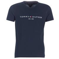 Ruhák Férfi Rövid ujjú pólók Tommy Hilfiger TOMMY FLAG HILFIGER TEE Tengerész