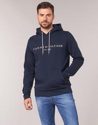 Ruhák Férfi Pulóverek Tommy Hilfiger TOMMY LOGO HOODY Tengerész