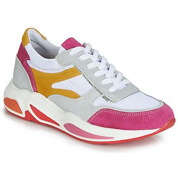 Cipők Női Rövid szárú edzőcipők André ROLLO Fehér / Rózsaszín