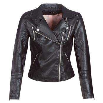 Ruhák Női Bőrkabátok / műbőr kabátok Only ONLGEMMA Fekete