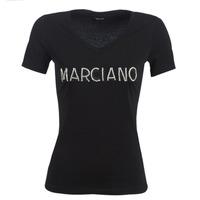 Ruhák Női Rövid ujjú pólók Marciano LOGO PATCH CRYSTAL Fekete