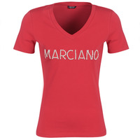 Ruhák Női Rövid ujjú pólók Marciano LOGO PATCH CRYSTAL Piros